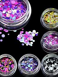 STZ New 1mm-3mm Mini Round Thin Nail Art Glitter Decoration Colorful DIY Glitter Paillette Design Nail Art Sequin Tips P15-21