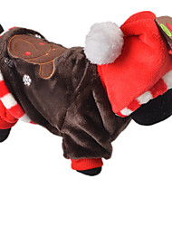 Hunde Overall Braun Hundekleidung Winter / Frühling/Herbst Schneeflocke Lässig/Alltäglich