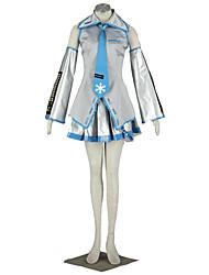 Vocaloid Hatsune Miku Anime Cosplay Costumes Shirt / Skirt / Tie / Sleeves / Headpiece / Stockings Female