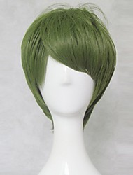 New  Kuroko's Basketball Midorima Shintaro Short Olive Green Cosplay  Wig  30cm Short  Party Wig