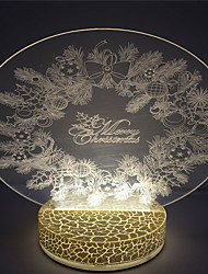 Christmas Wreath Design Holiday Best Gift 3D Led Night Lamp
