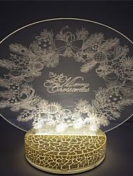 Рождественский дизайн венок праздник лучший подарок 3d светодиодные лампы ночь