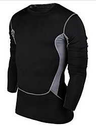 Vêtements de Compression/Sous maillot(Noir) -Exercice & Fitness / Sport de détente / Badminton / Basket-ball / Course/Running-Manches