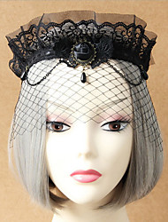 Crown of high-grade lace veil veil exaggerated masked gauze mask appeal tire restoring ancient ways 1штМакияж для маскарада / Тиары и