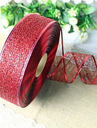 2Pcs  Random Colors Christmas Decoration For Home Party Diameter 3.5*200cm Navidad New Year Supplies Silk Ribbon