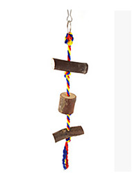 Portable Wood Brown Bird Toys1PC