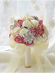 Luxry Diamond Beads Rose Wedding Flower Bridal Bouquet