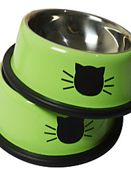 Dog Feeders Pet Bowls & Feeding Casual/Daily Green Stainless Steel