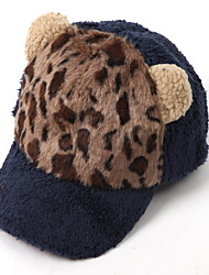 Fashion New Warm Leopard Plush Cat Ears Rabbit Rabbit Baseball Cap Hippie Hat