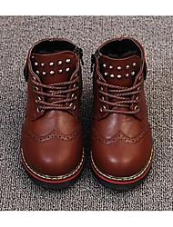 Girl's Boots Comfort Microfibre Casual Coffee / Khaki