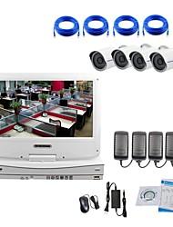 camera ip strongshine® com / infravermelho / água e à prova de 1080p e NVR com kits de combinação lcd 10.1inch