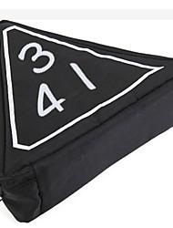 capacidade portablelarge nova bonito triângulo bordado saco de cosmética.