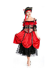 Festival/Holiday Halloween Costumes Red Solid Vest / Skirt / Belt / Hats Halloween / Christmas / Carnival Female