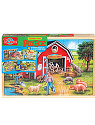 Jigsaw Puzzles Jigsaw Puzzle Building Blocks DIY Toys Wood Rainbow