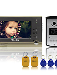 "TMAX® 7"" TFT Wired Doorbell Video Intercom Door Phone System RFID Keyfob 600TVL HD IR Camera"