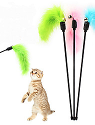 Cat Toy Pet Toys Teaser Bell Random Color Plastic