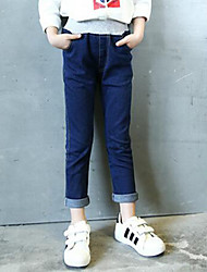 Girl Casual/Daily Solid Pants-Cotton Fall