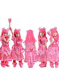 Cosplay Perücken Märchen Fest/Feiertage Halloween Kostüme Blau / Pink & Weiß / Ornage & Weiß einfarbig Rock / Kopfbedeckung Weihnachten