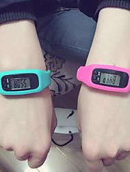 Men's / Women's / Kids' / Couple's Sport Watch Digital LED / Pedometer Silicone Band Casual Black / White / Red / Purple / Khaki / Ivory