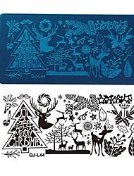 1шт рождества лоси дерево гвоздь печатная пластина