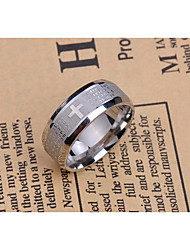 Ring Non Stone Party Jewelry Titanium Steel Men Ring / Band Rings 1pc,One Size Gold / Silver