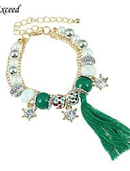Hot Selling Multi-color Beads Pearl Crystal Stars Tassel Bracelet For Christmas Gift BL151614