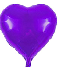 Balloons Heart-Shaped Aluminium Purple For Boys / For Girls 5 to 7 Years / 8 to 13 Years