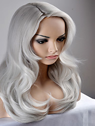 Europe and the United States Ms. Long New Year fashion large silver wave high-temperature wire wig