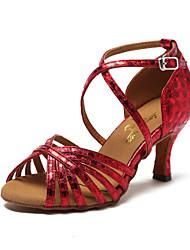 Chaussures de danse(Rouge / Argent / Or) -Non Personnalisables-Talon Aiguille-Paillette Brillante-Latine / Jazz