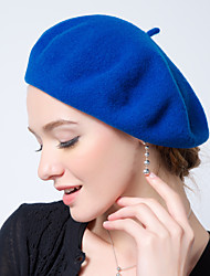 Female Leisure Candy Colored Wool Beret Hat