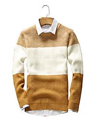 Normal Pullover Hommes Sortie / Décontracté / Quotidien / Vacances Vintage / simple / Chic de Rue,Couleur Pleine / RayéBleu / Rouge /
