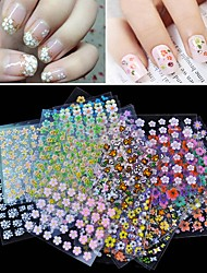 30Pcs/Lot 3D Manicure Tips Beauty Flowers Nail Art Sticker Decal