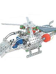 Kit Faça Você Mesmo para presente Blocos de Construir Brinquedos Originais Aeronave Metal 2 a 4 Anos / 5 a 7 Anos Prateada Brinquedos