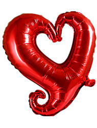 Balloons Holiday Supplies Heart-Shaped Aluminium Red For Boys / For Girls 5 to 7 Years