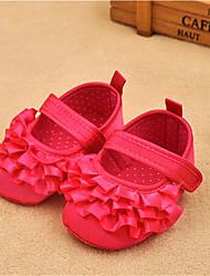 Mädchen-Flache Schuhe-Lässig-Baumwolle-Flacher Absatz-Komfort Lauflern-Weiß Rot Rosa