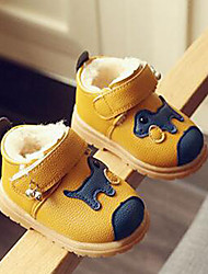 Kids' Boys' Baby Boots Comfort PU Fall Winter Casual Outdoor Comfort Magic Tape Yellow Ruby Blue Flat