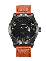 CAGARNY Men Watch/Fashion Watch /Large Dial Watch /Japan Quartz Calendar / Cool /Casual Business Watch