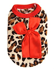 Katzen Hunde Pullover Weste Hundekleidung Winter Frühling/Herbst Leopard Modisch Lässig/Alltäglich Rose Rot