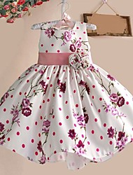 Girls Party Flower Print Tutu  Birthday Christmas Princess Kids Clothing Dresses