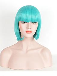 las mujeres calientes de la venta de color verde pelucas sintéticas pelucas rectas cortas