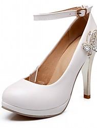 Белый Черный Розовый-Для женщин-Для офиса Повседневный Для праздника-Дерматин-На шпилькеОбувь на каблуках