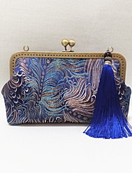 Women Silk  Blue Peacock Chinese Style / National Style Retro / Casual / Event/Party / Wedding Cheongsam Tassel Handmade Evening  Bag