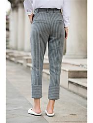 signe beau rayé rayures collants taille était mince pantalons fuselés pantalon de costume costume tache femme