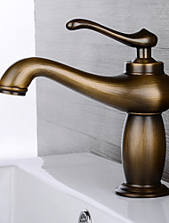 HPB Antique Brass Finish One Hole Single Handle Sink Faucet