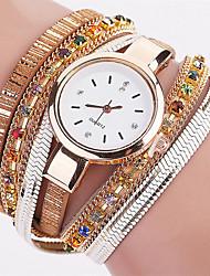 Women's Fashion Watch Wrist watch Bracelet Watch Quartz Colorful PU Band Vintage Sparkle Bohemian Charm Bangle Cool Casual Multi-Colored
