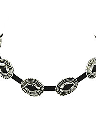 Gothic Style Eye Shape Charms Pu Suede Choker Necklace