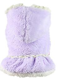 Chien Robe Violet / Incanardin Vêtements pour Chien Hiver / Printemps/Automne Couleur Pleine Décontracté / Quotidien / Garder au chaud