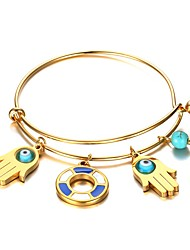 Women's Charm Bracelet Jewelry Halloween/Party/Birthday Fashion Stainless Steel/Gold Plated Turquoise Golden 1pc Gift