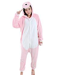 Kigurumi Пижамы Дракон Фестиваль / праздник Нижнее и ночное белье животных Halloween розовый Пэчворк Velvet норки Кигуруми Для