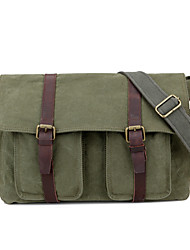New Men Canvas Leather Casual Messenger Shoulder Bag Tablet PC School Bag